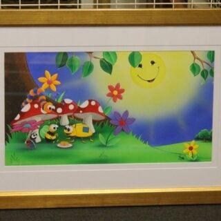 morpeth art gallery hunter valley natalie jane parker curly caterpillar bee beetle original painting childrens book image