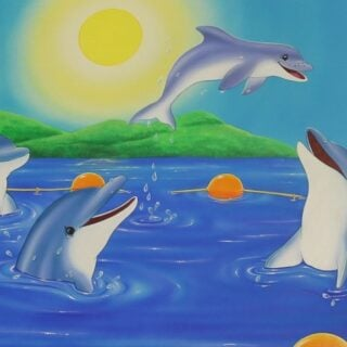 morpeth gallery art natalie jane parker children's book image echo dolphin saves the day