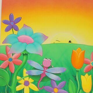 morpeth gallery art natalie jane parker children's book image dizzy dragonfly sunset