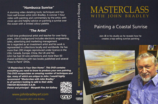 morpeth art gallery hunter valley john bradley DVD master class set coastal sunrise oil painting how to paint