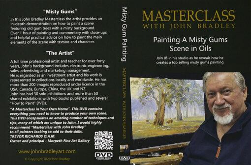 morpeth art gallery hunter valley john bradley DVD master class sets misty gums scene oil painting how to paint